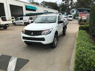 2017 Mitsubishi Triton MQ MY17 GLX 4x2 White 5 speed Automatic Cab Chassis.