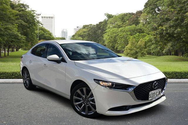 Used Mazda 3 BP2S7A G20 SKYACTIV-Drive Touring Paradise, 2021 Mazda 3 BP2S7A G20 SKYACTIV-Drive Touring White 6 Speed Sports Automatic Sedan