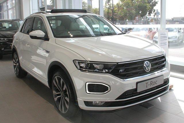 New Volkswagen T-ROC A1 MY21 140TSI DSG 4MOTION Sport Botany, 2021 Volkswagen T-ROC A1 MY21 140TSI DSG 4MOTION Sport Pure White 7 Speed