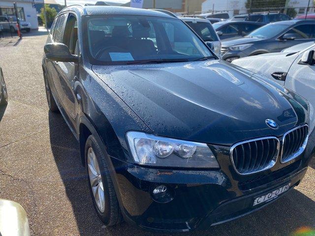 Used BMW X3 F25 MY1213 xDrive20d Steptronic Wickham, 2014 BMW X3 F25 MY1213 xDrive20d Steptronic Black 8 Speed Automatic Wagon