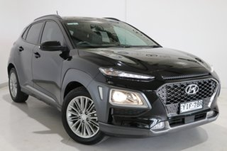 2017 Hyundai Kona OS MY18 Elite D-CT AWD Black 7 Speed Sports Automatic Dual Clutch Wagon.