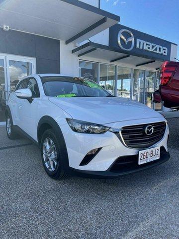 Demo Mazda CX-3 Bowen, 2021 Mazda CX-3 Maxx Sport White 6 Speed Automatic Wagon