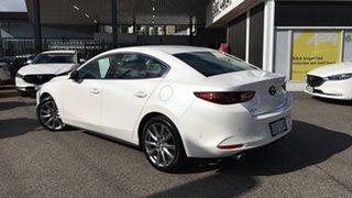 2021 Mazda 3 BP2S7A G20 SKYACTIV-Drive Touring White 6 Speed Sports Automatic Sedan.