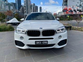 2014 BMW X5 F15 xDrive25d White 8 Speed Automatic Wagon.