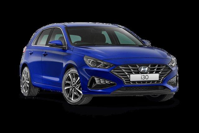 New Hyundai i30 PD.V4 MY21 Active Hamilton, 2021 Hyundai i30 PD.V4 MY21 Active Intense Blue 6 Speed Sports Automatic Hatchback