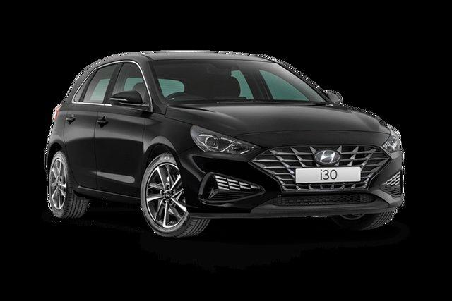 New Hyundai i30 PD.V4 MY21 Active Hamilton, 2021 Hyundai i30 PD.V4 MY21 Active Phantom Black 6 Speed Sports Automatic Hatchback