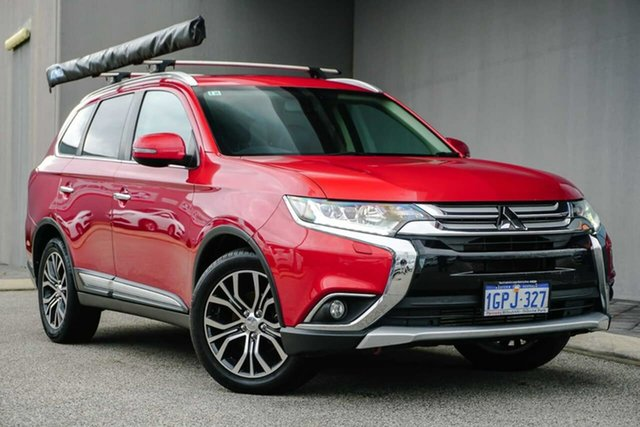 Used Mitsubishi Outlander ZK MY16 Exceed 4WD Osborne Park, 2015 Mitsubishi Outlander ZK MY16 Exceed 4WD Red 6 Speed Sports Automatic Wagon