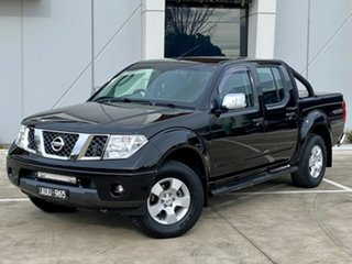 2007 Nissan Navara D40 ST-X Black 5 Speed Automatic Utility.