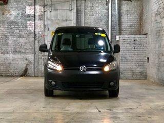 2012 Volkswagen Caddy 2KN MY12 TDI250 SWB Black 5 Speed Manual Van.