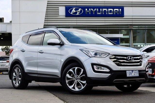 Used Hyundai Santa Fe DM2 MY15 Highlander South Melbourne, 2015 Hyundai Santa Fe DM2 MY15 Highlander Silver 6 Speed Sports Automatic Wagon