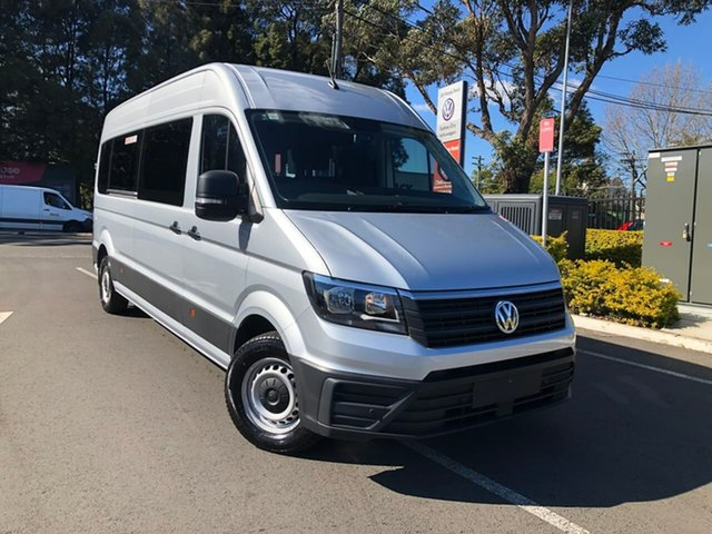 New Volkswagen Crafter SY1 MY21 Minibus High Roof LWB FWD TDI410 Botany, 2020 Volkswagen Crafter SY1 MY21 Minibus High Roof LWB FWD TDI410 Silver 8 Speed Automatic Bus