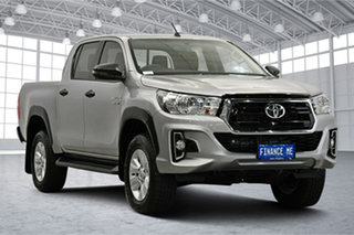 2019 Toyota Hilux GUN126R SR Double Cab Silver 6 Speed Sports Automatic Utility.