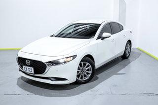 2020 Mazda 3 BP2S7A G20 SKYACTIV-Drive Pure White 6 Speed Sports Automatic Sedan.