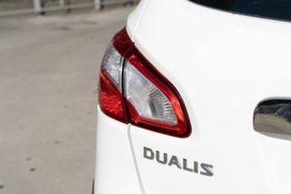 2012 Nissan Dualis J10 Series II MY2010 ST Hatch X-tronic White 6 Speed Constant Variable Hatchback