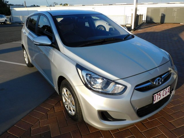 Used Hyundai Accent RB2 MY15 Active Toowoomba, 2014 Hyundai Accent RB2 MY15 Active Silver 6 Speed Manual Hatchback