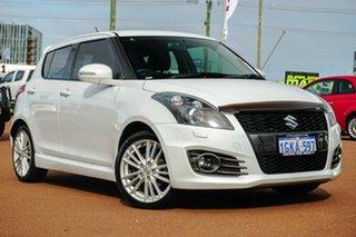 2013 Suzuki Swift FZ Sport White 6 Speed Manual Hatchback.