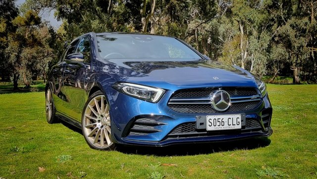 Used Mercedes-Benz A-Class W177 801+051MY A35 AMG SPEEDSHIFT DCT 4MATIC Nuriootpa, 2020 Mercedes-Benz A-Class W177 801+051MY A35 AMG SPEEDSHIFT DCT 4MATIC Blue 7 Speed