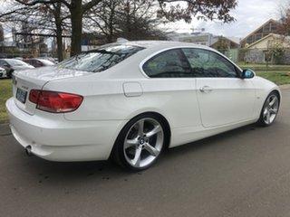 2007 BMW 3 Series E92 335i Steptronic White 6 Speed Sports Automatic Coupe.