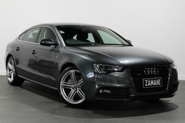 Used Audi A5 8T MY12 Sportback S Tronic Quattro Bayswater, 2012 Audi A5 8T MY12 Sportback S Tronic Quattro Grey 7 Speed Sports Automatic Dual Clutch Hatchback
