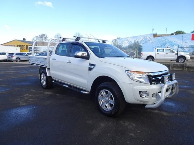 Used Ford Ranger PX XLT Double Cab Nowra, 2014 Ford Ranger PX XLT Double Cab White 6 Speed Automatic Utility