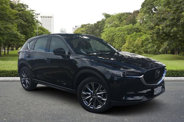 Demo Mazda CX-5 KF4WLA Akera SKYACTIV-Drive i-ACTIV AWD Paradise, 2021 Mazda CX-5 KF4WLA Akera SKYACTIV-Drive i-ACTIV AWD Jet Black 6 Speed Sports Automatic Wagon