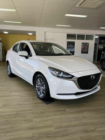 Demo Mazda 2 G15 Pure Bowen, 2021 Mazda 2 Q G15 Pure White 6 Speed Automatic Sedan