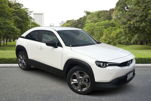 Demo Mazda MX-30 DR2W7A G20e SKYACTIV-Drive Evolve Paradise, 2021 Mazda MX-30 DR2W7A G20e SKYACTIV-Drive Evolve Arctic White 6 Speed Sports Automatic Wagon