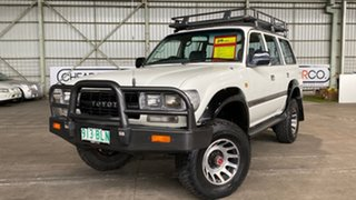 1991 Toyota Landcruiser HDJ80R GXL White 4 Speed Automatic Wagon.