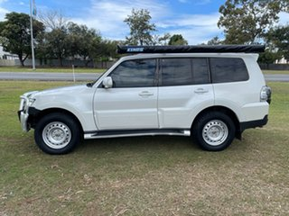 2008 Mitsubishi Pajero NS Exceed White 5 Speed Sports Automatic Wagon.