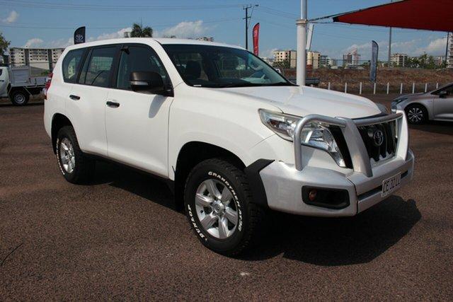 Pre-Owned Toyota Landcruiser Prado KDJ150R MY14 GX Darwin, 2014 Toyota Landcruiser Prado KDJ150R MY14 GX Glacier White 6 Speed Manual Wagon