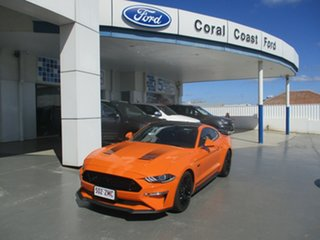 2019 Ford Mustang GT Orange 10 Speed Automatic Coupe.