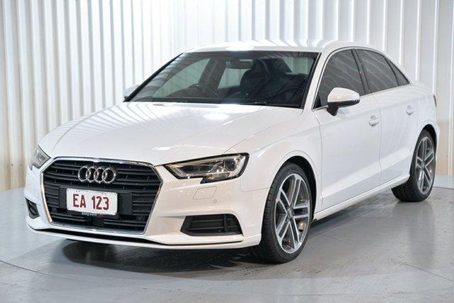 Used Audi A3 8V MY17 S Tronic Hendra, 2016 Audi A3 8V MY17 S Tronic White 7 Speed Sports Automatic Dual Clutch Sedan
