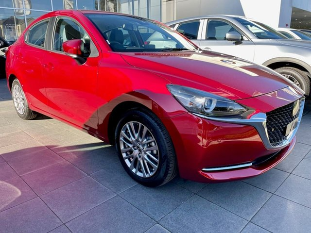 New Mazda 2 DL2SAA G15 SKYACTIV-Drive GT Waitara, 2021 Mazda 2 DL2SAA G15 SKYACTIV-Drive GT Red 6 Speed Sports Automatic Sedan