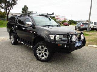 2009 Mitsubishi Triton MN MY10 GLX-R (4x4) Black 5 Speed Automatic 4x4 Double Cab Utility.