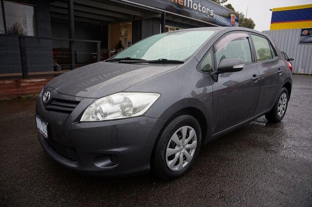 Used Toyota Corolla ZRE152R MY11 Ascent Dandenong, 2012 Toyota Corolla ZRE152R MY11 Ascent Graphite 4 Speed Automatic Hatchback