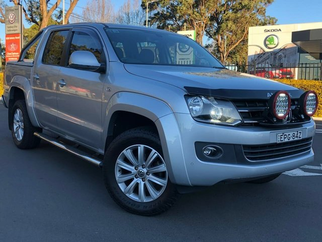 Used Volkswagen Amarok 2H MY14 TDI420 4Motion Perm Highline Botany, 2014 Volkswagen Amarok 2H MY14 TDI420 4Motion Perm Highline Silver 8 Speed Automatic Utility