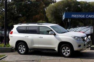 2012 Toyota Landcruiser Prado KDJ150R Altitude White 5 Speed Sports Automatic Wagon.