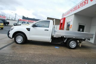 2013 Ford Ranger PX XL 2.2 (4x2) White 6 Speed Manual Cab Chassis.