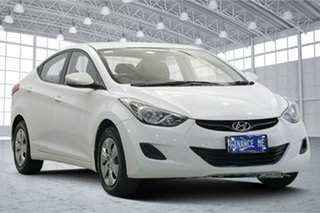 2011 Hyundai Elantra MD Active White 6 Speed Sports Automatic Sedan.