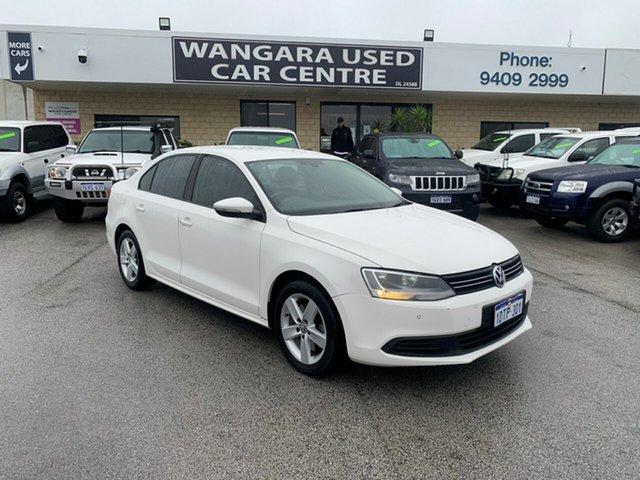Used Volkswagen Jetta 1KM MY10 118 TSI Wangara, 2011 Volkswagen Jetta 1KM MY10 118 TSI White 7 Speed Auto Direct Shift Sedan