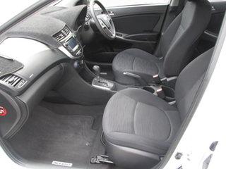 2016 Hyundai Accent RB4 MY17 Active White 6 Speed CVT Auto Sequential Hatchback