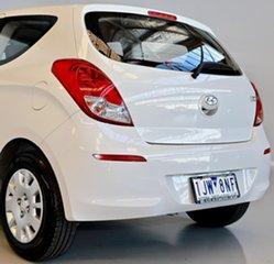 2014 Hyundai i20 PB MY14 Active White 6 Speed Manual Hatchback