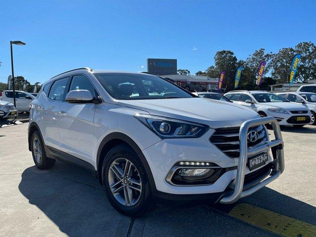 Used Hyundai Santa Fe DM3 MY17 Active Glendale, 2017 Hyundai Santa Fe DM3 MY17 Active White 6 Speed Sports Automatic Wagon