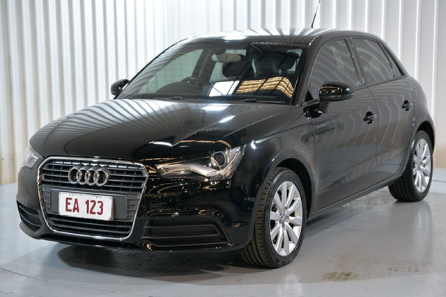 Used Audi A1 8X MY14 Attraction Sportback S Tronic Hendra, 2014 Audi A1 8X MY14 Attraction Sportback S Tronic Black 7 Speed Sports Automatic Dual Clutch
