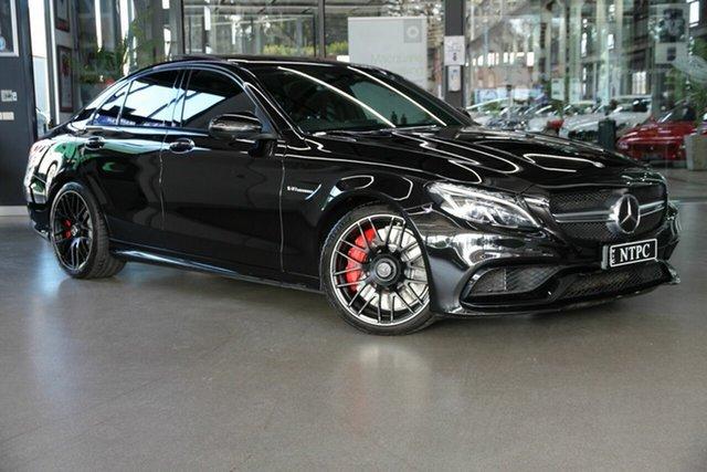 Used Mercedes-Benz C-Class W205 807MY C63 AMG SPEEDSHIFT MCT S North Melbourne, 2016 Mercedes-Benz C-Class W205 807MY C63 AMG SPEEDSHIFT MCT S Black 7 Speed Sports Automatic Sedan