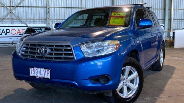 Used Toyota Kluger GSU40R KX-R 2WD Rocklea, 2009 Toyota Kluger GSU40R KX-R 2WD Blue 5 Speed Sports Automatic Wagon