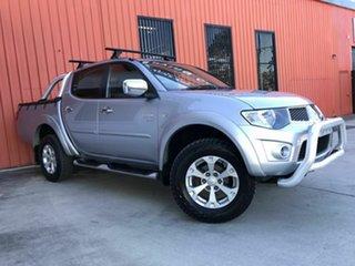 2011 Mitsubishi Triton MN MY11 GLX-R Double Cab Silver 5 Speed Manual Utility.