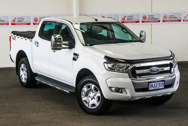 Pre-Owned Ford Ranger PX MkII XLT 3.2 (4x4) Myaree, 2016 Ford Ranger PX MkII XLT 3.2 (4x4) White 6 Speed Automatic Double Cab Pick Up