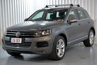 2014 Volkswagen Touareg 7P MY14 V6 TDI Grey 8 Speed Automatic Wagon.