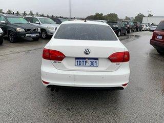 2011 Volkswagen Jetta 1KM MY10 118 TSI White 7 Speed Auto Direct Shift Sedan